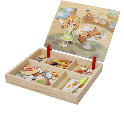 Wooden Animal Puzzles Box