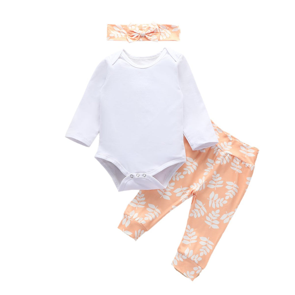 3-Piece Baby Romper Cotton Sets