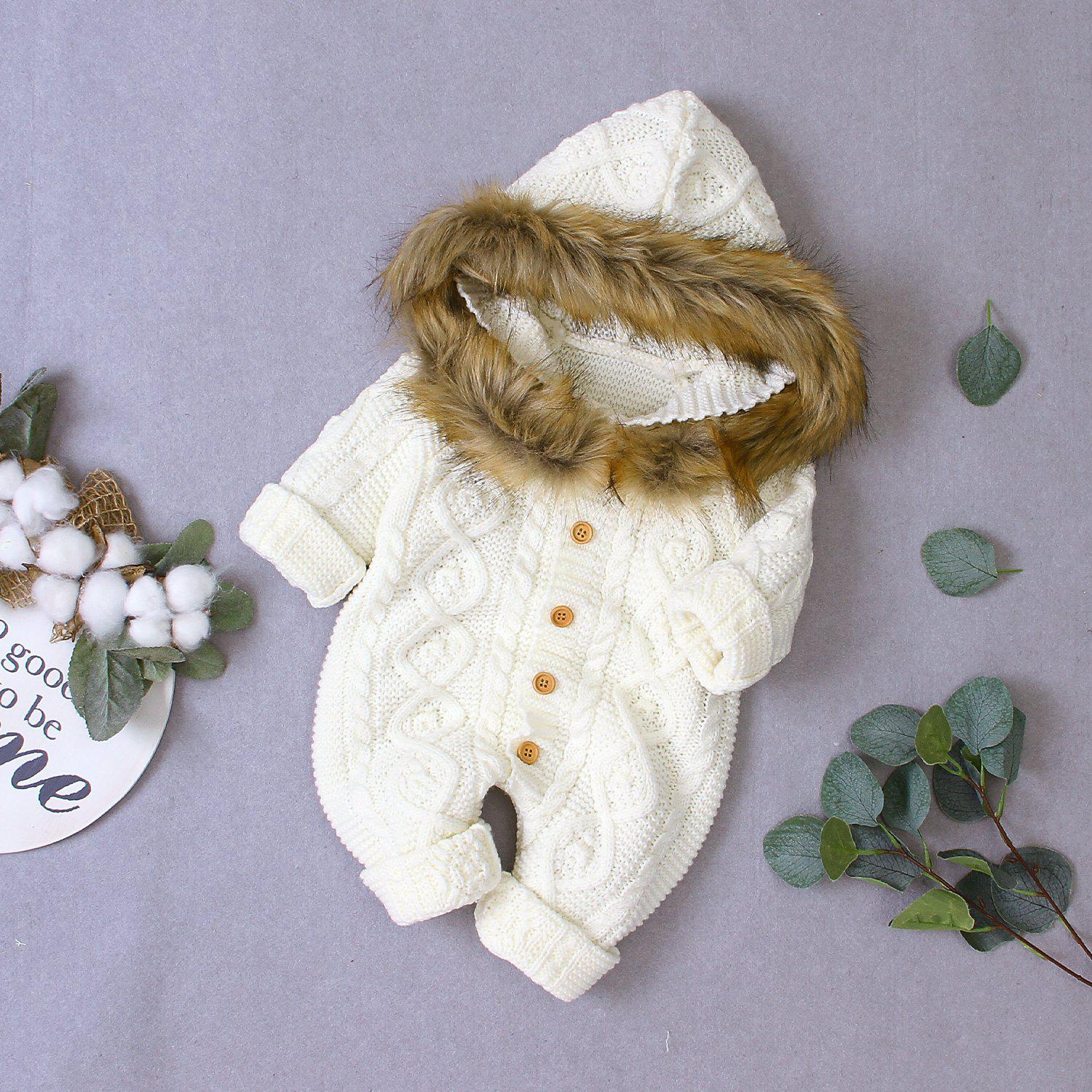 Baby Knitted Hooded Sweater Coat