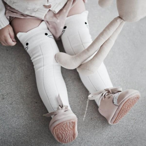 Lovely Cat Design Stockings for Baby Girl