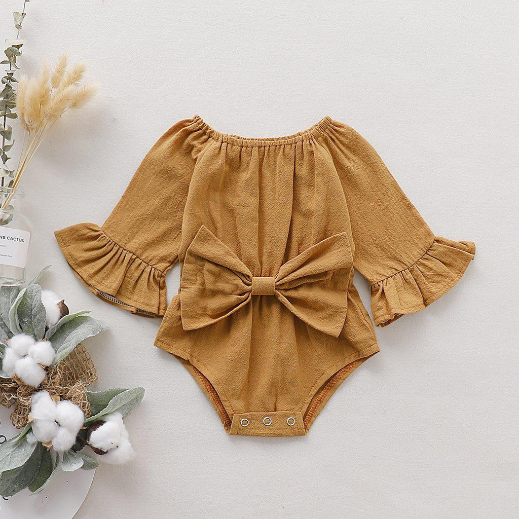 Girls Pure Bow Romper