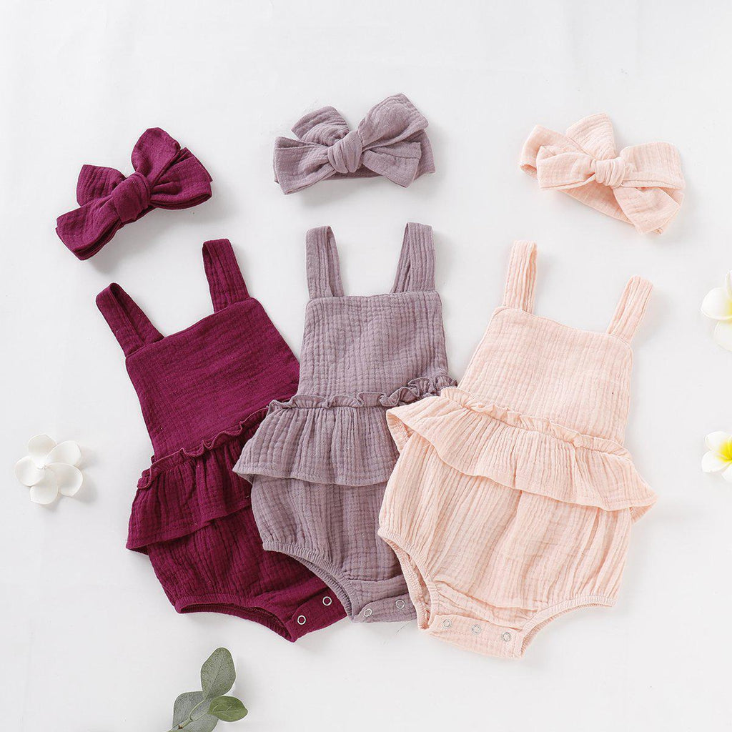 Baby Cotton Linen Romper