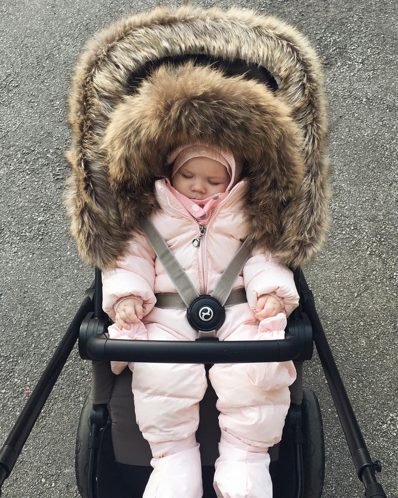 NEW Winter Baby Big Fur Collar Warm Jumpsuit Baby Hoody Knit Romper
