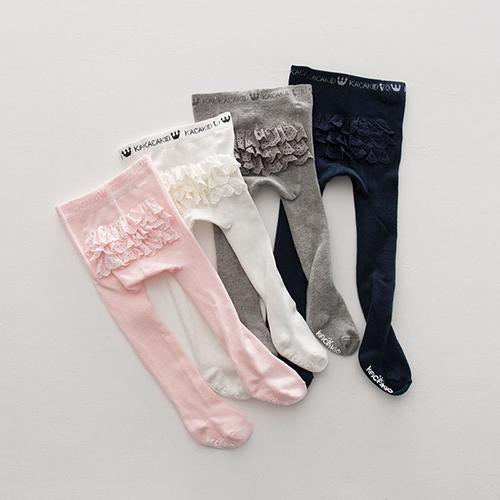 Girls Lace Anti-Skid Princess Trousers Cotton Socks