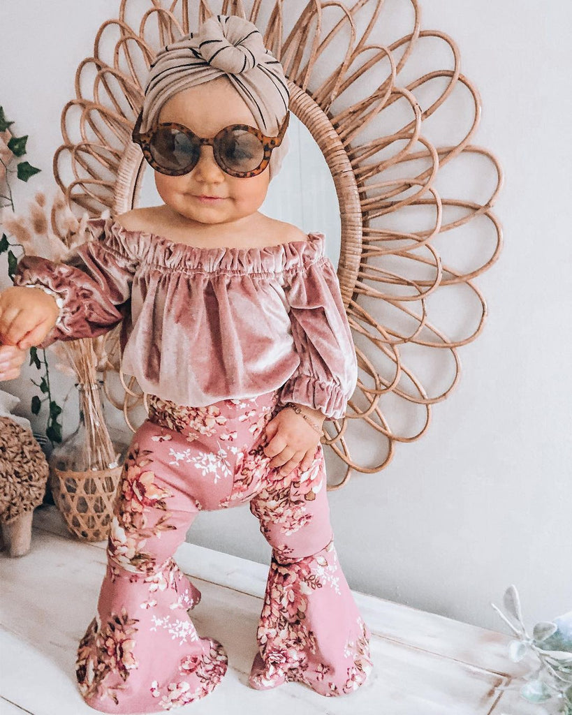 2-Piece Flower Pink Suit