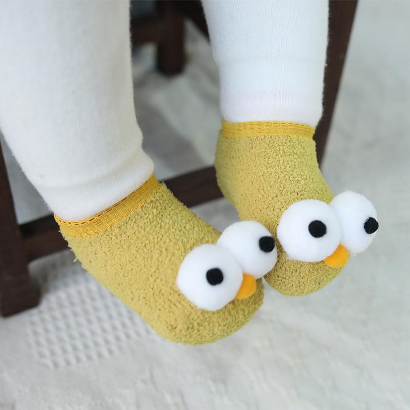 Cute 3D Big Eyes Design Baby Socks