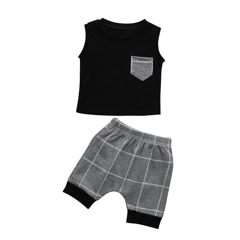 2-piece Boy Lattice Suit