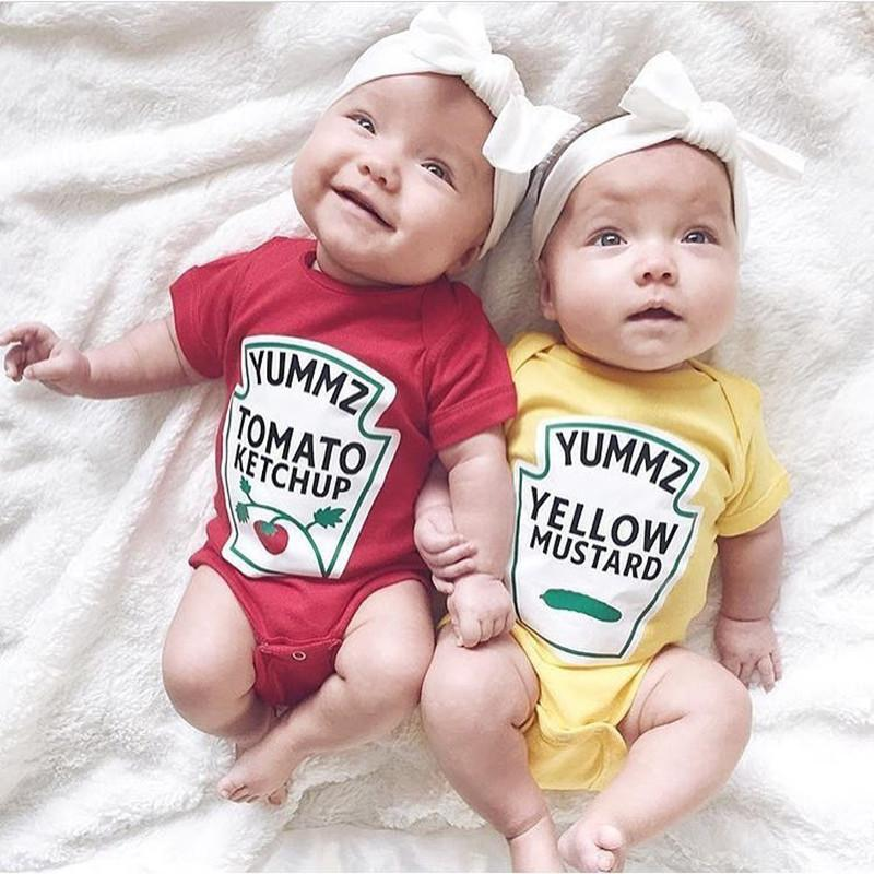 Baby Cotton Fruit Twins Romper