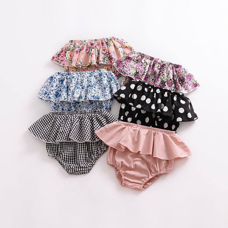Ins baby lace triangle shorts, big PP pants practice pants