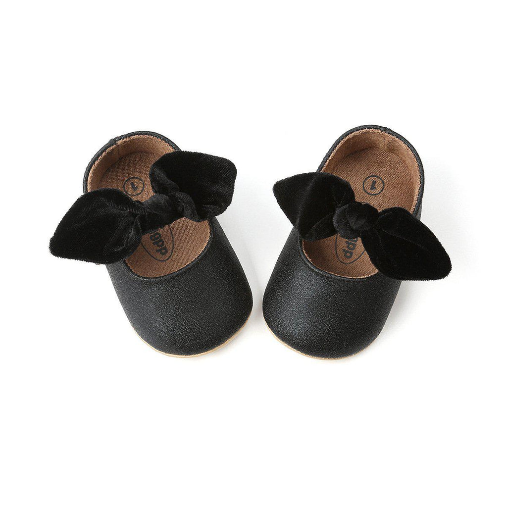 Baby Velvet Bowknot Shoes  0-18m
