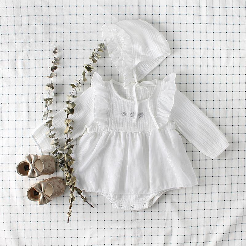 2-piece Embroidered Cotton Jumpsuit