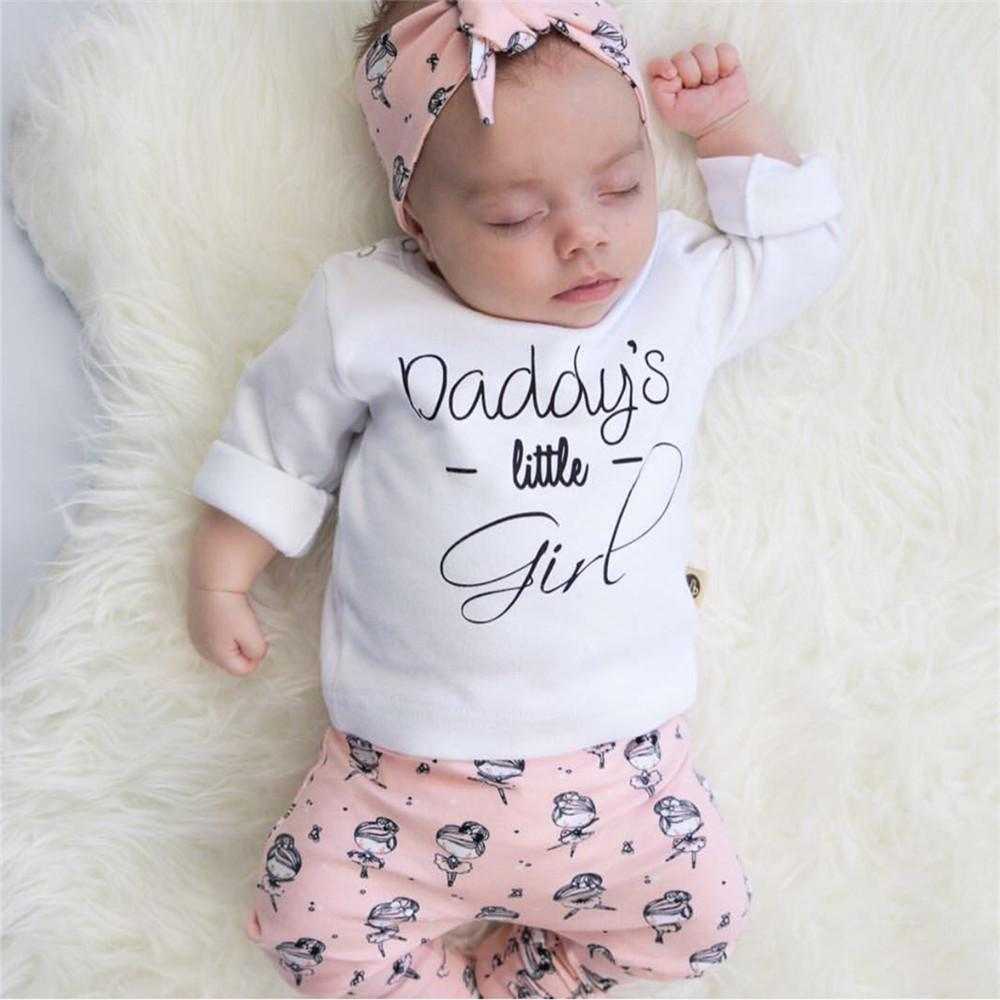 3-piece dady's girl printed long sleeve suit
