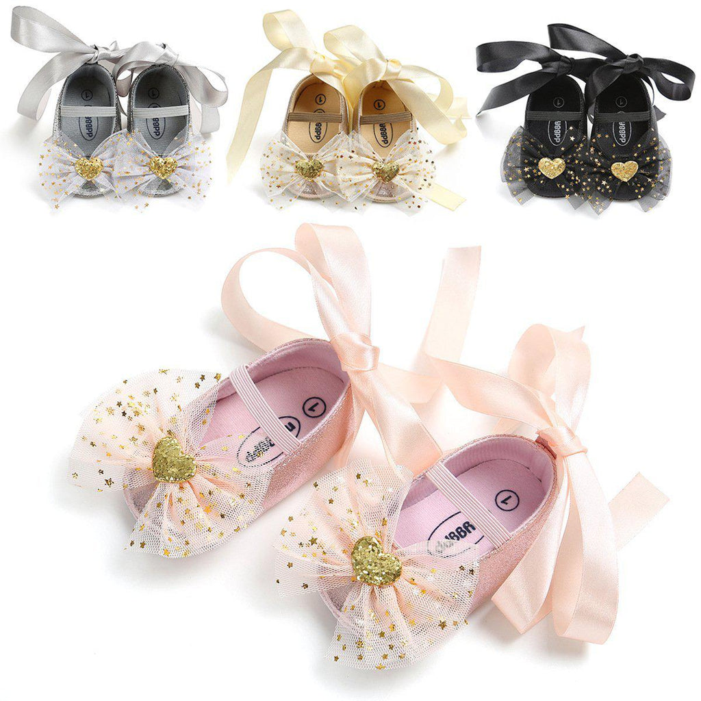 Baby Silk Ribbon Priness Shoes 0-18m