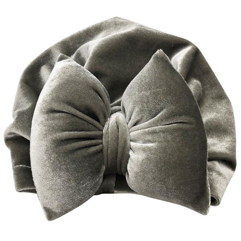Baby Gold Velvet Padded Cotton Bow Headband