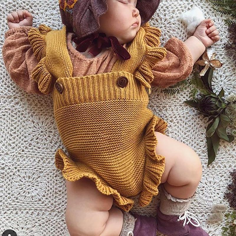 INS baby knit flouncing sweater jumpsuit