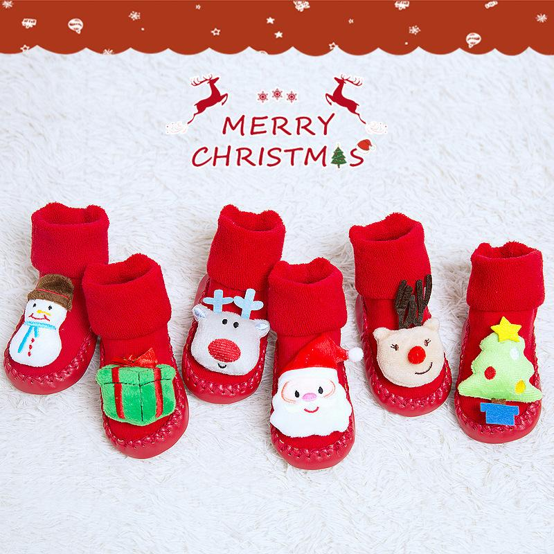 Infant Christmas Cartoon Doll Footwear