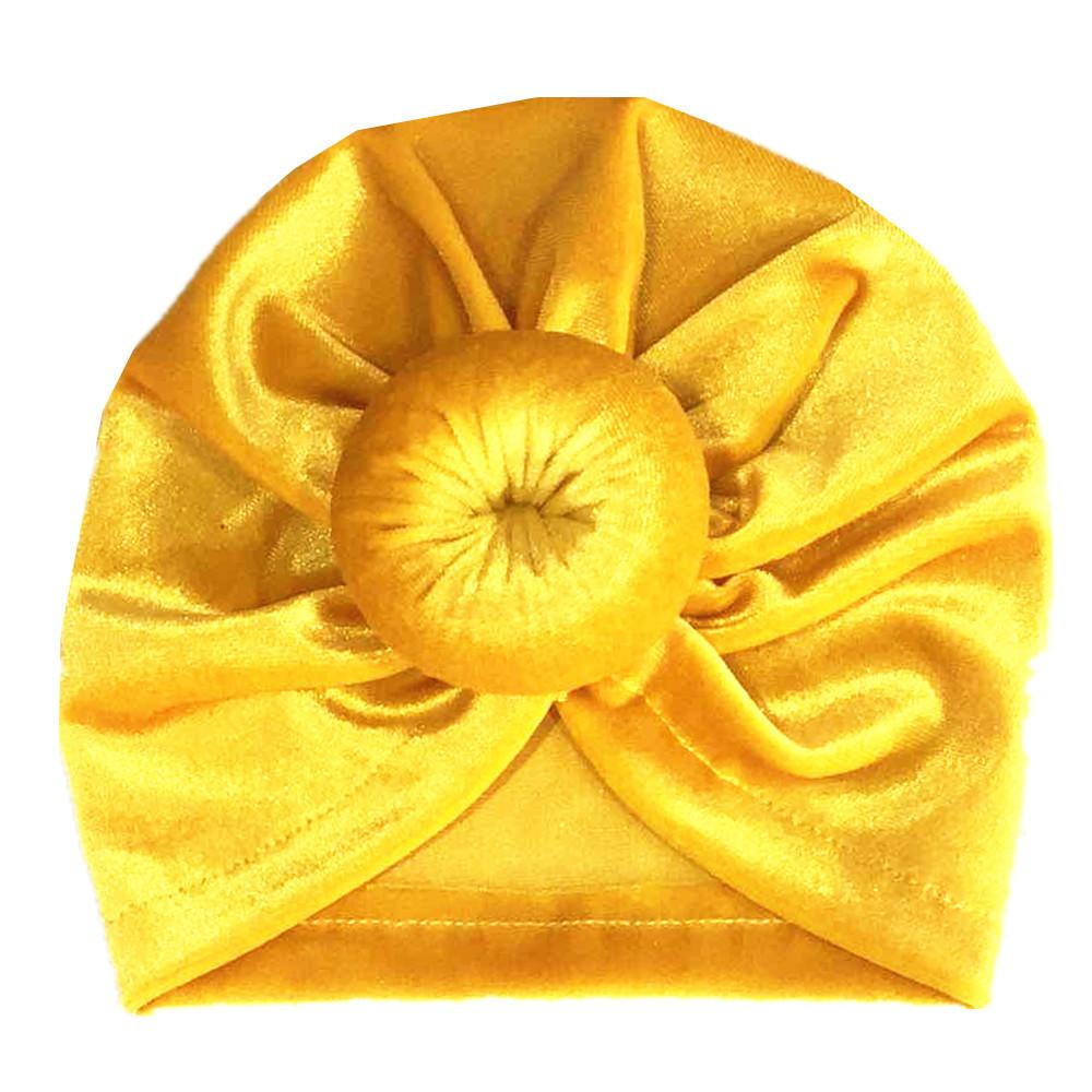 Golden velvet donut children's hat
