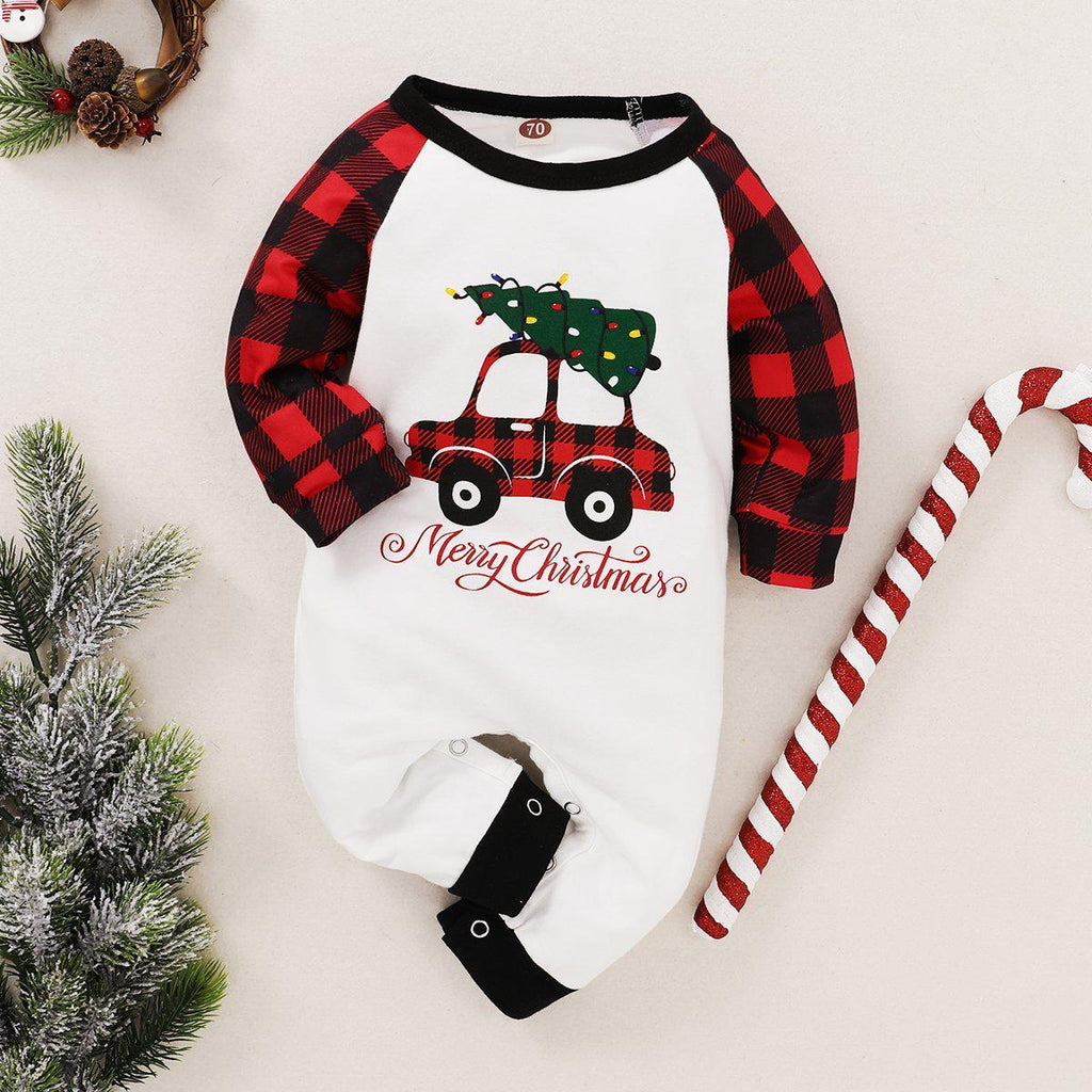 Baby Print Merry Christmas Romper