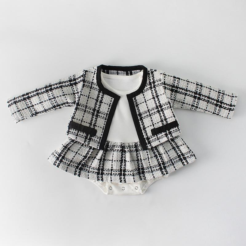2-piece Baby little sweet princess temperamental name yuan long sleeve skirt places ha garment