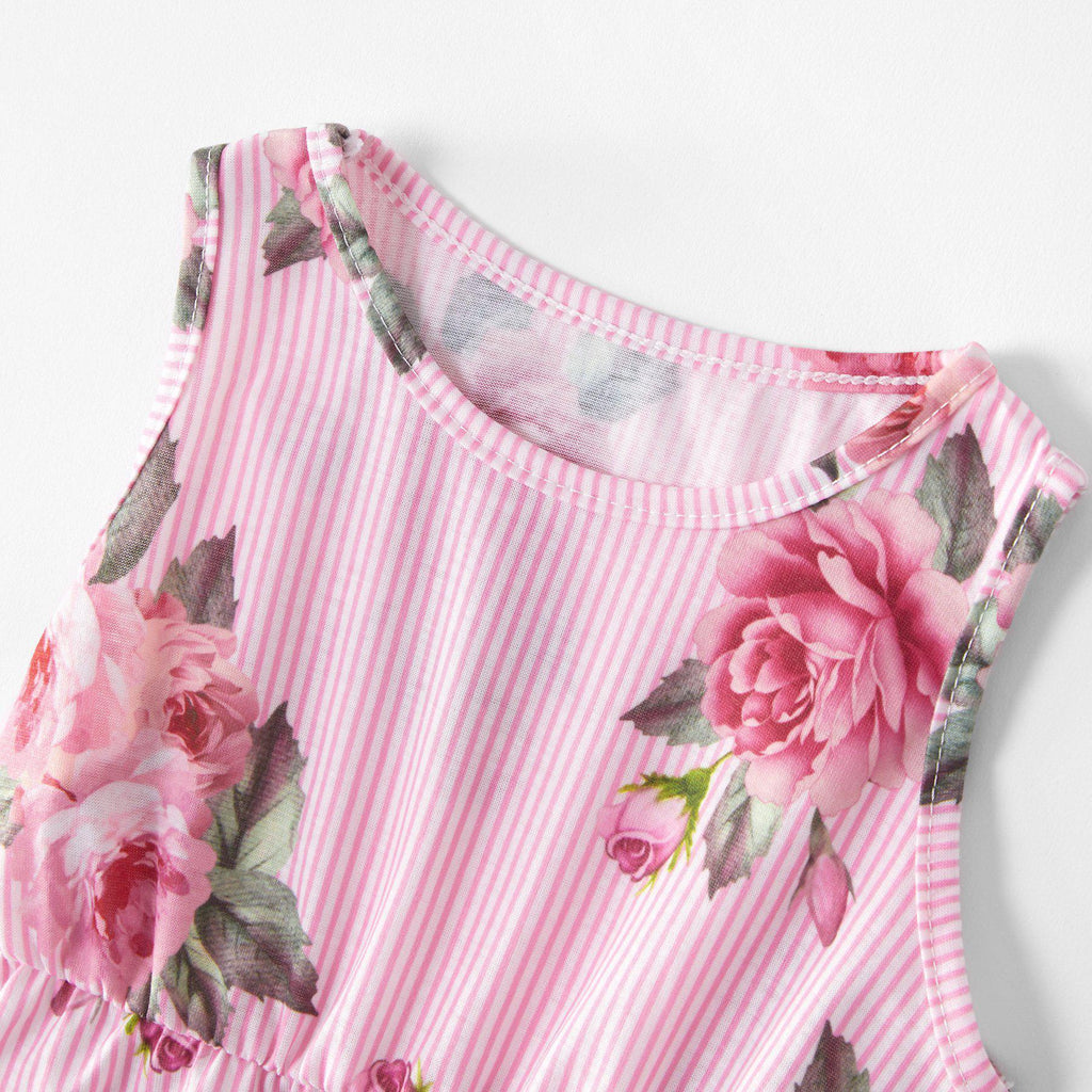 Parent-child Digital Print Camisole Loose Dress