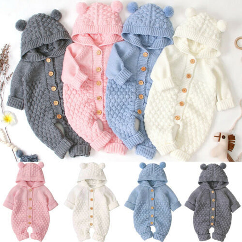 Baby Hooded Knit Outfits
