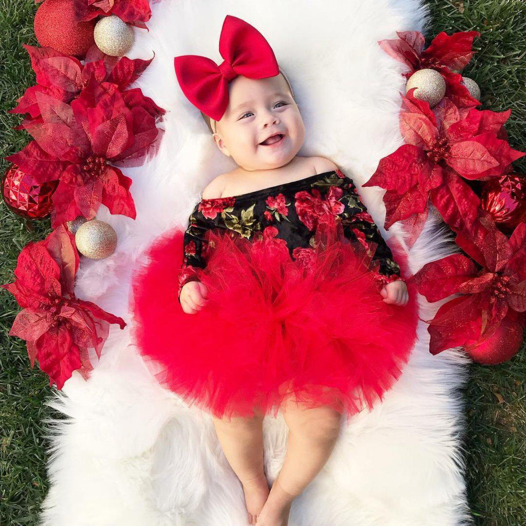 2-piece Baby Off Shoulder TUTU Dress Suit