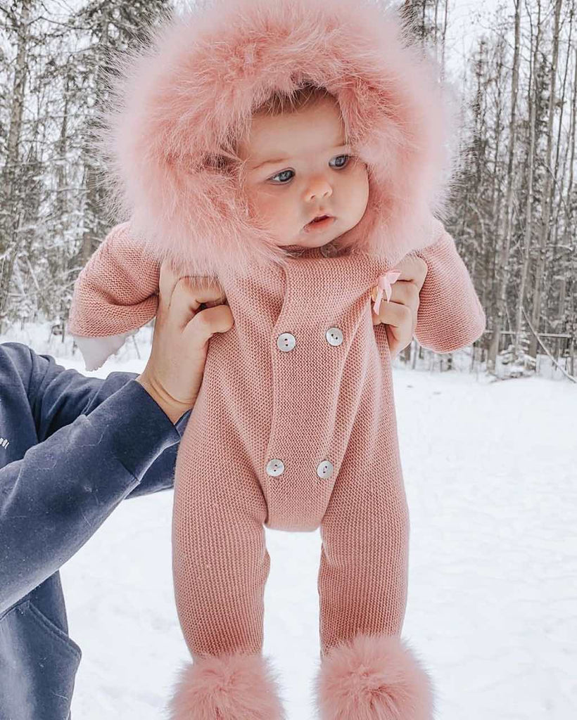 Baby Pink Sweater Coat