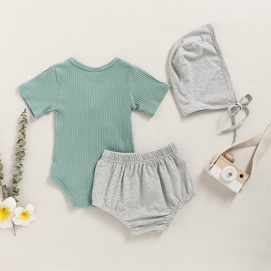 3-piece Pure Cotton Onesie Set