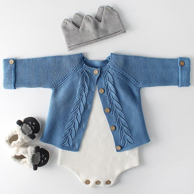 Baby Knit Coat&Sleeveless Cotton