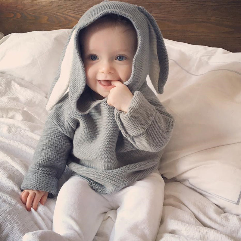 Baby Rabbit Hooded Sweater Coat
