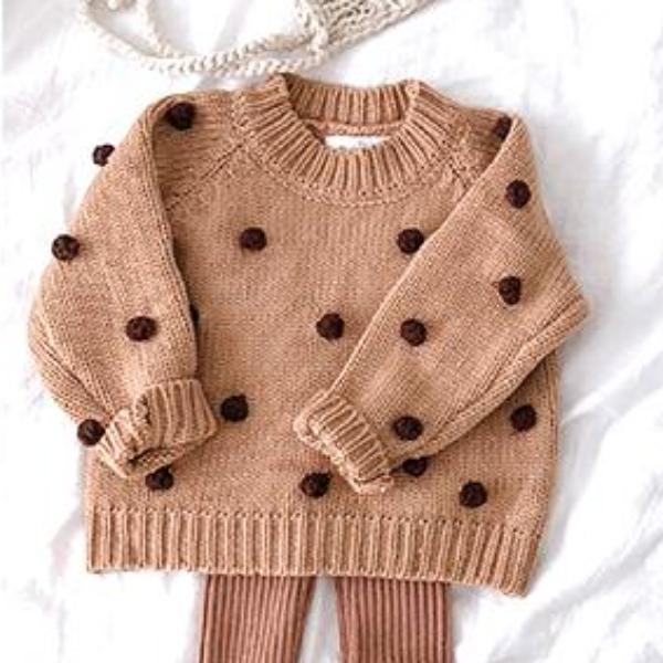 Baby winter wool ball lovely sweater