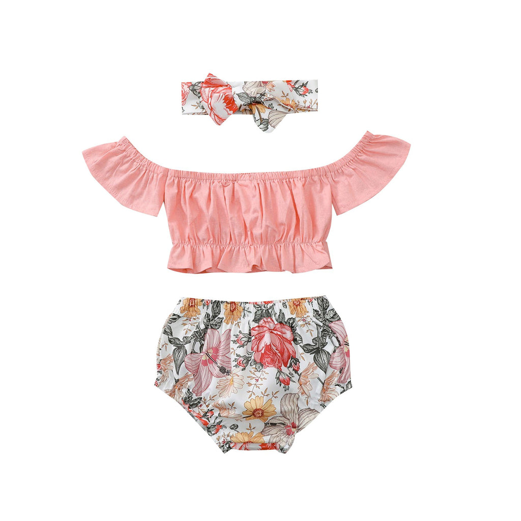 Baby Girl Floral Romper sets