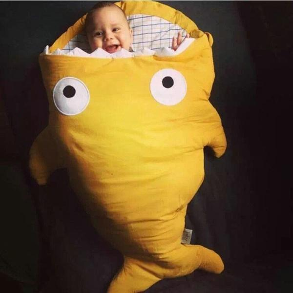 Colors Cartoon Shark Baby Sleeping Bag