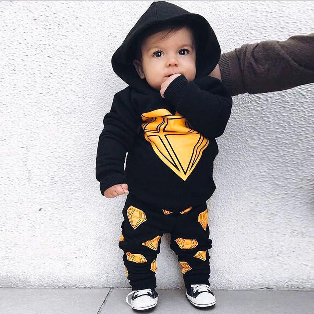2-piece baby cartoon diamond suit