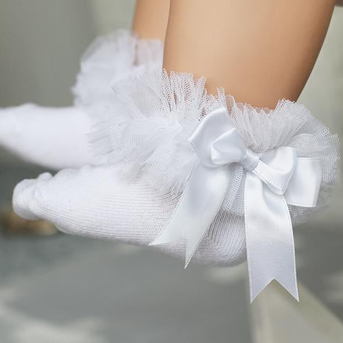 Girl Lace Pure Cotton Sweet Bow Princess Socks
