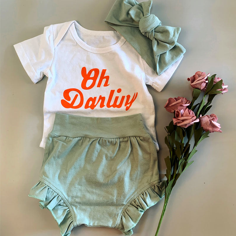 3-piece Oh Darling Onesies Set