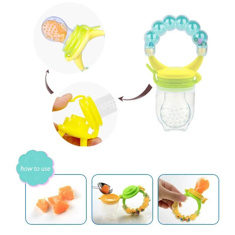 Baby Fruit Bell Silicone Pacifier