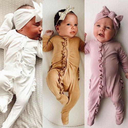 2-Piece Newborn Girls Ruffled Romper