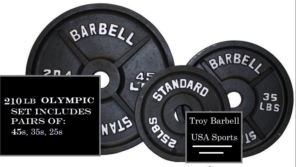 USA SPORTS 210 lb OLYMPIC Weight Set