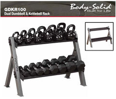 Body Solid Dual Dumbbell & Kettlebell Rack - in stock