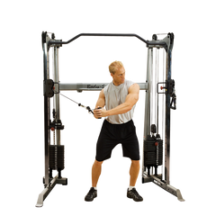 Body-Solid Functional Trainer GDCC200 Machine 210lb Weight Stacks