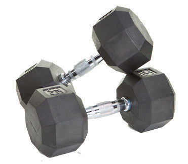 VTX Rubber Hex Dumbbells (pairs) BY TROY BARBELL