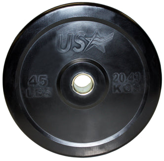 USA Sports Econo Bumper Plate Set - Residential Grade (Bar not included)
