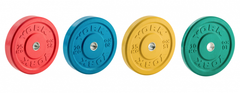 York Barbell Colored Training Bumper Plates in KG (set) or (pairs) -Bar not included