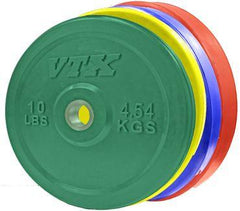 260 lb VTX Colored Bumper Plate Set with bar