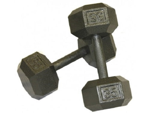 550lb Set of Deluxe Solid Hex Dumbbells IHD-G2 TROY Barbell