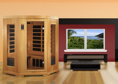 3 Person Full Spectrum Infrared Saunas  In Stock