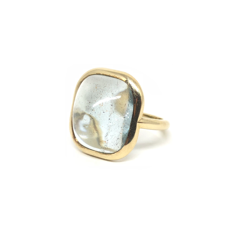 Aquamarine Cab Ring