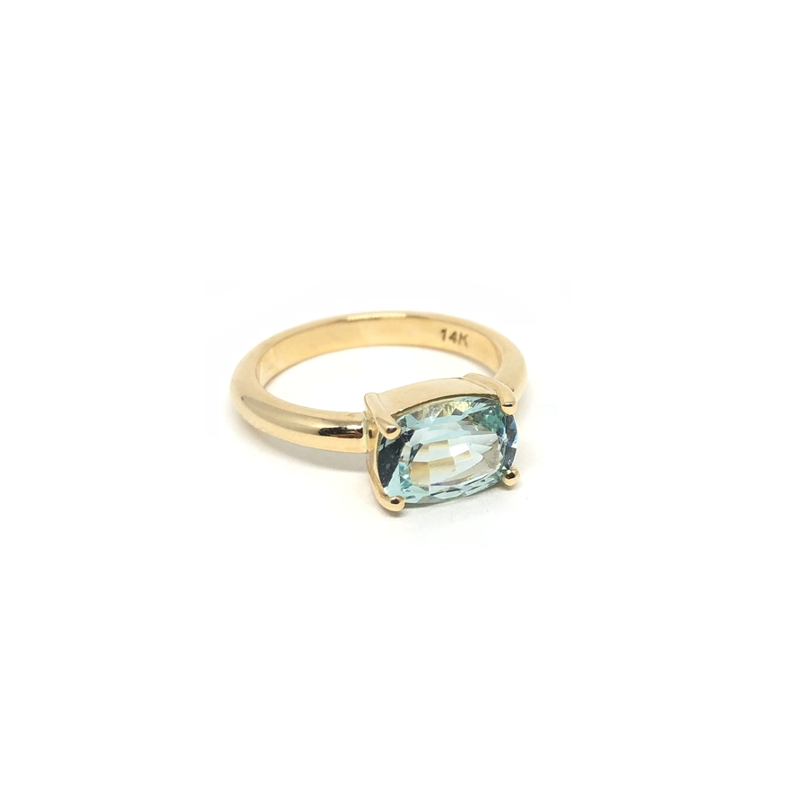 Aquamarine Prong Set Ring