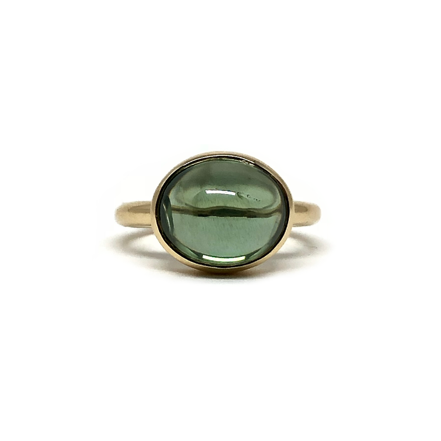 Green Zircon Cab Ring